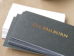 25. Card: Colorplan 540gsm duplexed ebony/white