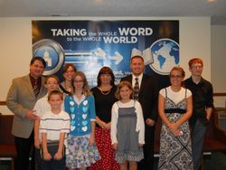 Pastor and Mrs. Ethan Daves and children