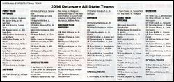 2014 All State teams, 1st, 2nd & 3rd teams