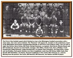 1940, Prices Run football team
