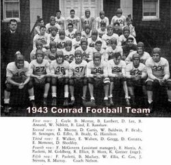 1943, Conrad Football team
