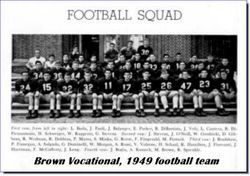 1949, Brown Vo Tech football team