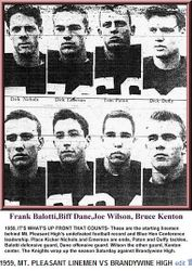 1959, Mt. Pleasant  High defenders...