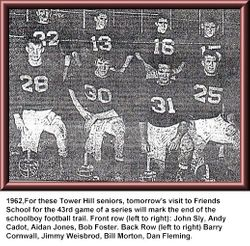 1962, Tower Hill football Seniors