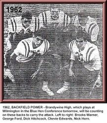 1962, Brandywine backs