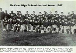 1967, McKean High football team