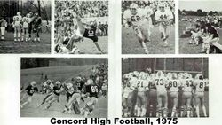 1975, Concord High football team