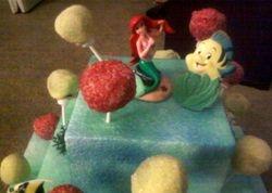 Alexis' Ariel Cake Pop Display