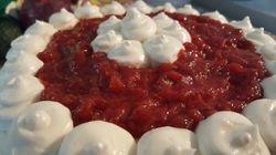 Strawberry n Creme Cake