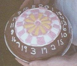 Dart Board theme cake