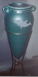 Dolphin theme- Decorated vase