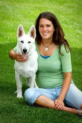Adrianne's senior picture with Dakota ~ 6 months