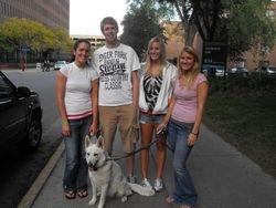 Dakota with Adrianne and friends at the U