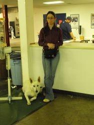 Dakota and Allison waiting at a show