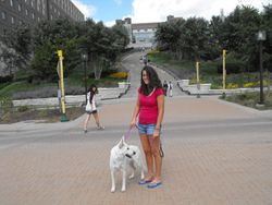 visiting Adrianne at the U of M