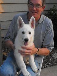 Sierra with new friend Steve