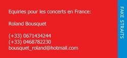 Equiries pour les concerts en France