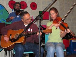 Playing a contra dance in Toronto