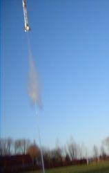 Take off 6L waterraket met hoogtemeter en onboard camera (crash)