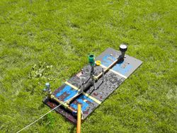 Lanceerplatvorm met Gardena lanceersysteem