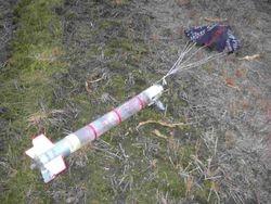 6L waterraket lancering avond na landing
