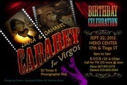 Virgo Birthday & Cabaret