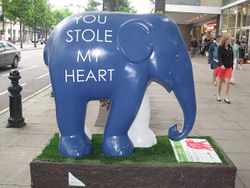 Elephant Art Exhibit, London