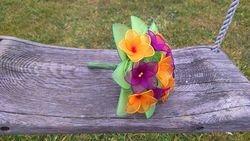 MALI SOPEK- orhidejno/ciklamno vijolicna + oranzna + zelena