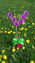 Orhideja iz najlonk - velika: ORHIDEJNO VIJOLICNA (SVETLA + TEMNA)