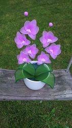 Orhideja iz najlonk: ROZA-BELA