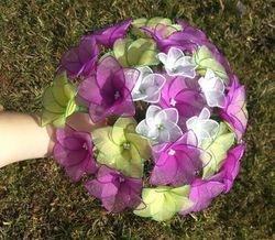 VELIKI SOPEK - orhidejno/ciklamo vijolicna + zelena + bela