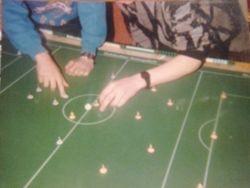 Brendan kicks off against Patrick 1987