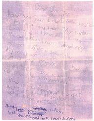 Letter from Coleen Christjohn 1970