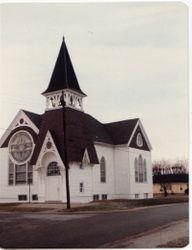 Exterior of Donnellson Presbyterian, year unknown