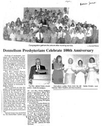 Donnellson Presbyterians Celebrate 100th