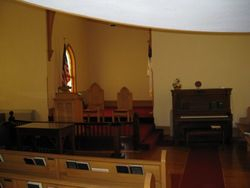 front of the sanctuary