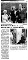 Parish Honors James D Howie For 45 Years Of Faithful Service