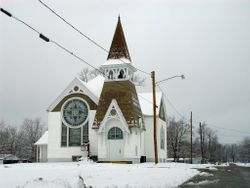 Winter in a small town