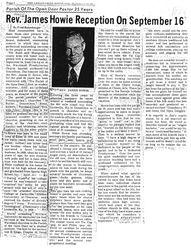 Rev James Howie Reception On September 16 1979