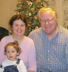 Grandma and Grandpa with Katie Dawn