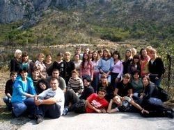 Sa svojim ucenicima na Ostrogu( 2008.)