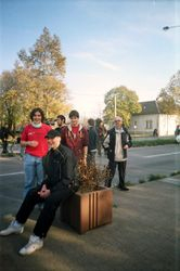 Nikola, Marko i Georgi na eko protestu 2006.
