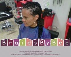 Fishbone Braids with Natural Hair