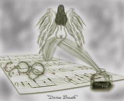 """My own artwork """"Divine Breath"""""""