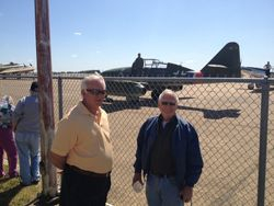 Bill Gipson and Dick Wright with Me262 in background