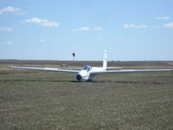 and landing