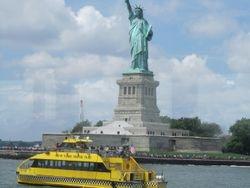 A view approaching Lady Liberty.