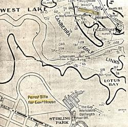 1926 map Westlake - Stirling Park