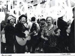 Joe Tate & Me at the San Francisco Peace March