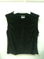 387 sleeveless velvet top